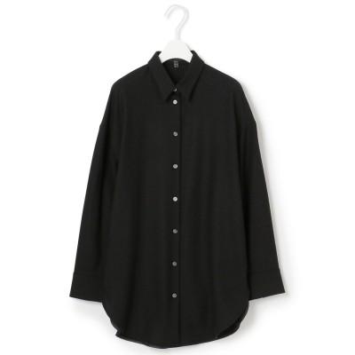 ICB(大きいサイズ) 【浅見れいなさん着用】WoolGeorgette ブラウス (ブラック系)