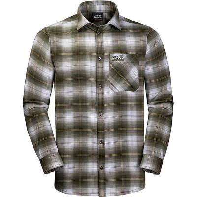ジャックウルフスキン シャツ メンズ トップス Jack Wolfskin Men's Light Valley Shirt Pinewood Checks