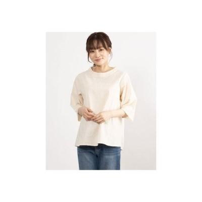 カンカン KANKAN 葉っぱ刺繍コットンプルオーバー (ナチュラル)