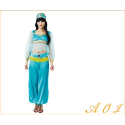 アラビアンプリンセス【アラビア】【ダンス】【ドレス】【エジプト】透け感のある袖が可愛く、露出度が高過ぎない☆当店のコ