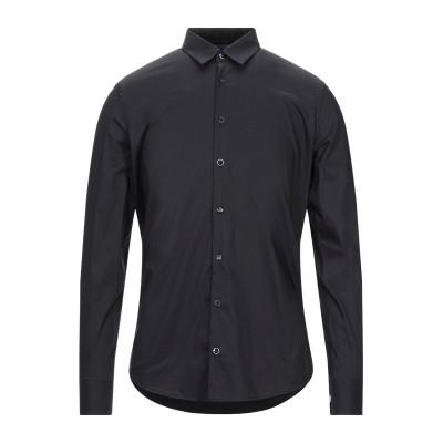 SSEINSE シャツ ブラック S コットン 75% / ナイロン 22% / ポリウレタン 3% シャツ