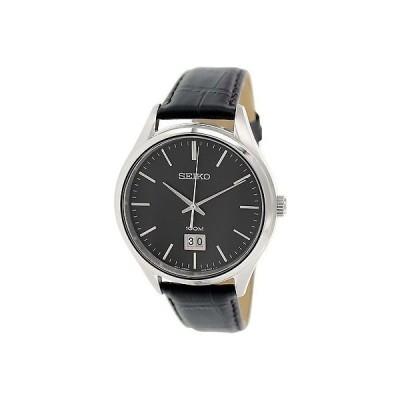 セイコー Seiko メンズ SUR023P2 ブラック レザー クォーツ 腕時計