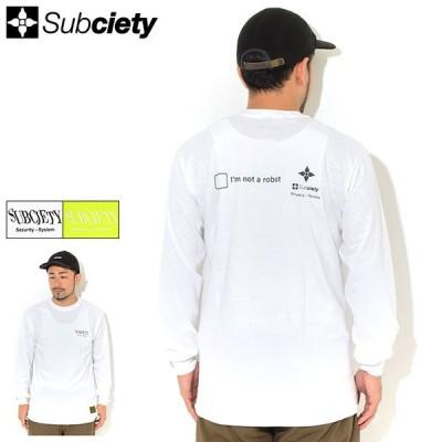 サブサエティ Tシャツ 長袖 Subciety メンズ アンチ ロボット ( subciety Anti Robot L/S Tee T-SHIRTS トップス ロンt 104-44603 )