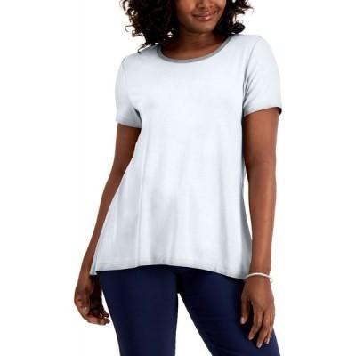 メイシーズ Macy's レディース トップス JM Collection High-Low Top Bright White