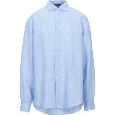ロダ RODA メンズ シャツ トップス linen shirt Sky blue