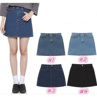デニムスカート ミニ ジーンズ Aライン ショート丈 大きいサイズ デニムミニスカート