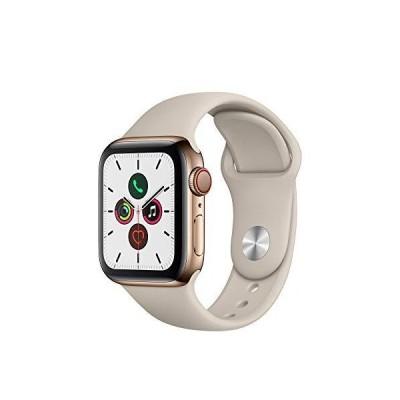 Apple Watch Series 5 GPS+Cellularモデル 40mm ゴールドステンレススチールケースとストーンスポーツバンド レギュラー MWX62J/A