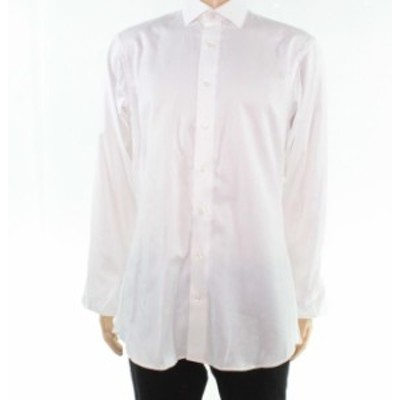 ファッション ドレス Measure Up Mens Dress Shirt White Size XL Long Sleeve Button Up