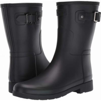 ハンター Hunter レディース レインシューズ・長靴 シューズ・靴 Original Refined Short Rain Boots Black