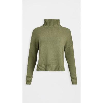525 レディース ニット・セーター トップス Long Sleeve Turtleneck Sweater Sage