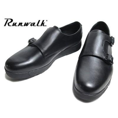 アシックス ランウォーク asics RUNWALK MB079D G-TX 2E ブラック ダブルモンクストラップ ビジネスシューズ メンズ 靴