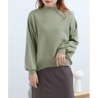 ストレッチモックネックセーター