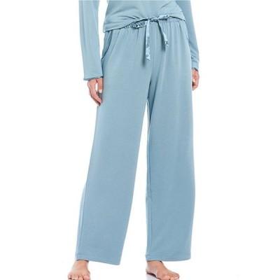 カベルネ レディース カジュアルパンツ ボトムス Solid French Terry Knit Satin Trimmed Sleep Pants