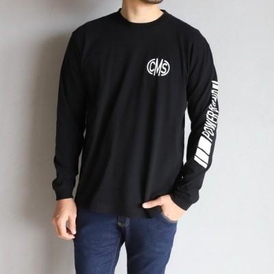 CHARGER Tシャツ チャージャー ロングスリーブプリントTシャツ CMS L/S PRINT TEE CMS ブラック BLACK 2020春夏新作