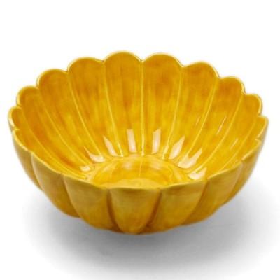 黄交趾菊形鉢・伏原博之《小鉢・14.5cm》