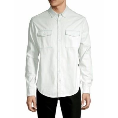 メンズ カジュアル ボタンダウンシャツ Logo Cotton Button-Down Shirt