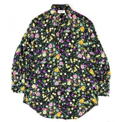 セリーヌ 18AW 花柄 オーバーサイズレーヨンシャツ レディース 38 マルチ 美品 ブラウス フラワープリント CELINE【G2-5793】