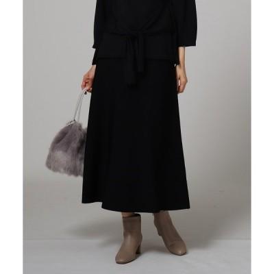 スカート 【洗える】レーヨンストレッチニットスカート