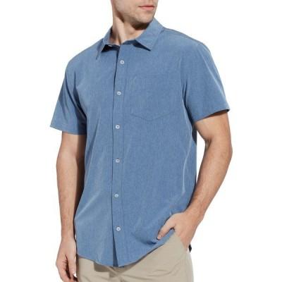 アルパインデザイン シャツ トップス メンズ Alpine Design Men's Cascade Button Front Woven Shirt VintageIndigoHeather
