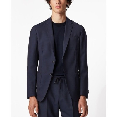 ヒューゴボス ジャケット&ブルゾン アウター メンズ BOSS Men's Nolvay Slim-Fit Jacket Dark Blue