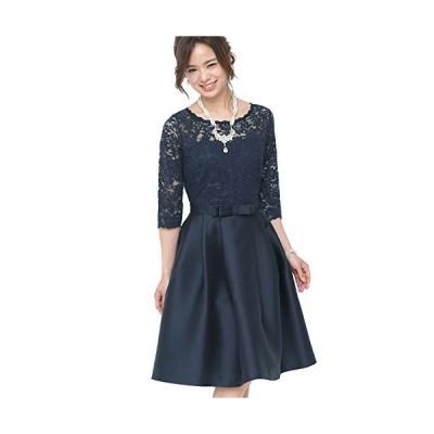 プールヴー ドレス ワンピース パーティードレス 結婚式 二次会 レディース ネイビー 3Lサイズ 15号 2554