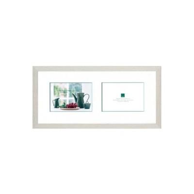 グラーノフォトフレーム オフホワイト 150×330mm(グリーンラインマット付)