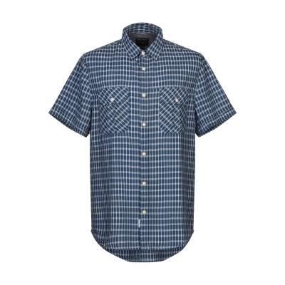 ウールリッチ WOOLRICH シャツ ブルーグレー XXL コットン 100% シャツ