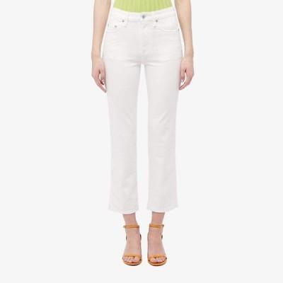 サイモンミラー レディース デニムパンツ ボトムス Slim Crop Jeans in Whiteout