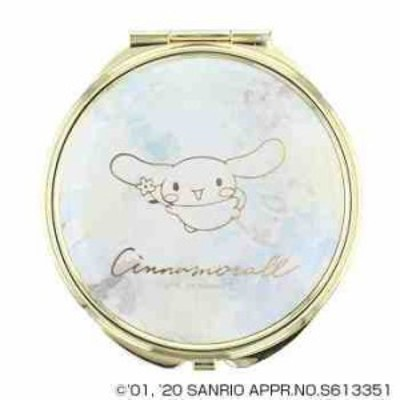サンリオ シナモロール CINNAMOROLL コンパクトミラー 手鏡 拡大鏡付 SR-M0032-BL