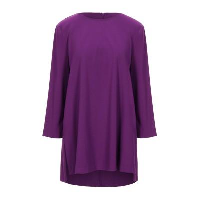 1-ONE ミニワンピース&ドレス モーブ 44 レーヨン 69% / ナイロン 25% / ポリウレタン 6% ミニワンピース&ドレス