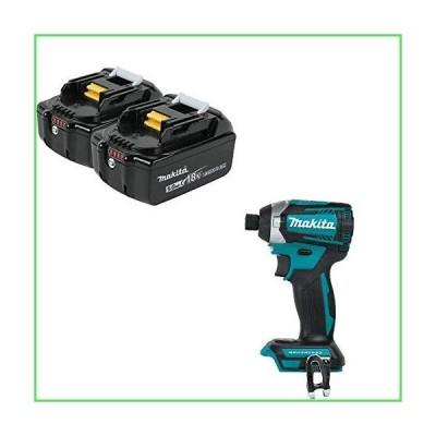 Makita BL1850B-2 18V Battery 2 Pk & Makita XDT14Z 18V Q-Shift 3-Spd Imp Driver