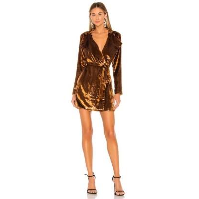 ラヴァーズフレンズ Lovers + Friends レディース ワンピース ミニ丈 ワンピース・ドレス Norton Mini Dress Copper Brown