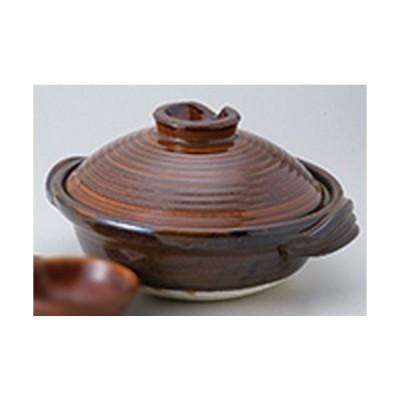 土鍋 和食器 / アメ釉6.0深鍋 寸法:19.5 x 24 x 11.5cm