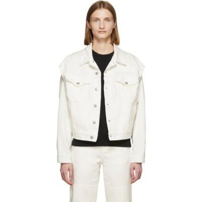 メゾン マルジェラ MM6 Maison Margiela レディース ジャケット アウター Off-White Denim Arm Cut Outs Jackets Off-white