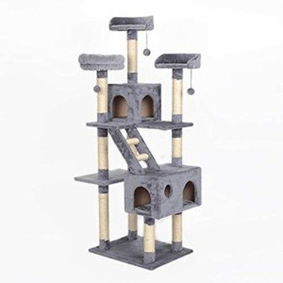 Cute cat パーソナリティ猫登山ツリー猫無垢材サイザル猫ツリー大型高級猫 (新古未使用品)