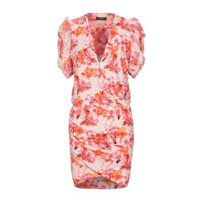 SOALLURE ミニワンピース&ドレス ベージュ 38 ポリエステル 95% / ポリウレタン 5% ミニワンピース&ドレス