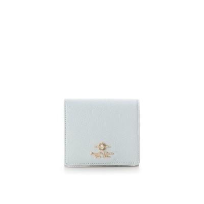 サマンサタバサプチチョイス エリップスストーン 折財布(BOX型コインケース) ライトブルー