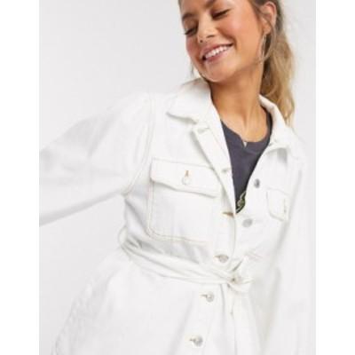 ニュールック レディース ジャケット・ブルゾン アウター New Look puff sleeve jacket in off white Off white