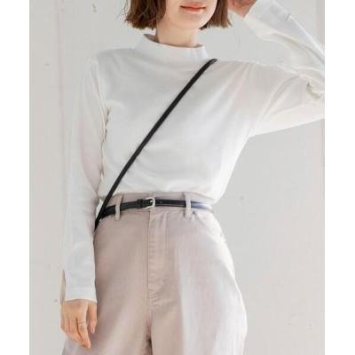 coen / 袖スリットハイネックロングスリーブ WOMEN トップス > Tシャツ/カットソー
