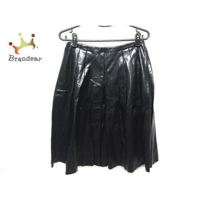 フォクシーニューヨーク スカート サイズ40 M レディース - 黒 ひざ丈/フェイクレザー 新着 20201112