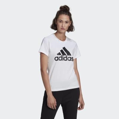 adidas アディダス W ESS ビッグロゴ Tシャツ 46361 GL0649 レディーススポーツウェア Tシャツ レディース ホワイト/ブラック セール