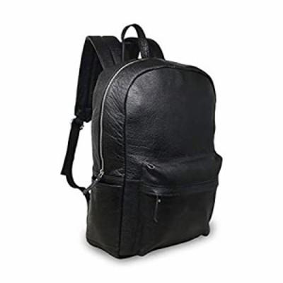 18インチ ブラック 本革 ノートパソコン バックパック 防水 カジュアル オフィス 仕事 専門 大学 ブックバッグ 快適 軽量 旅行 リュック