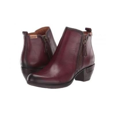 Pikolinos レディース 女性用 シューズ 靴 ブーツ アンクルブーツ ショート Rotterdam 902-8900 - Garnet
