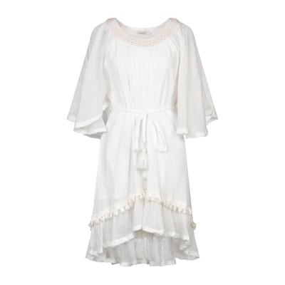 MES DEMOISELLES ミニワンピース&ドレス アイボリー 34 コットン 100% ミニワンピース&ドレス