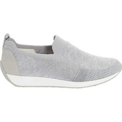 アラ レディース スニーカー シューズ Leena 34080 Sneaker Silver Woven Stretch Fabric