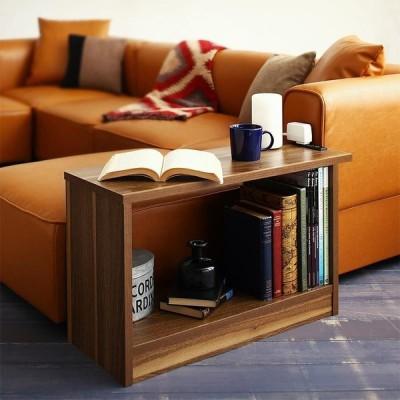 サイドテーブル ソファ横テーブル W70 2口コンセント付き 単品