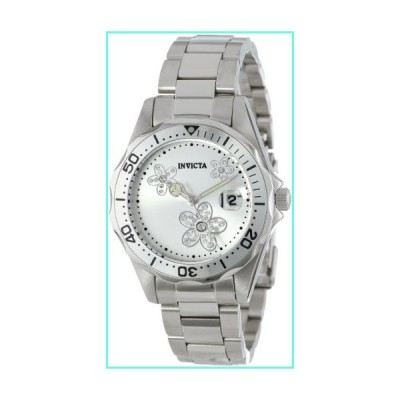 Invicta Women's 12506 Pro Diver Silver Dial Crystal Accented Stainless Steel Watch並行輸入品