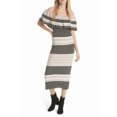 Free People フリーピープル ファッション ドレス Free People Womens Beige Size Small S Striped Ruffled Maxi Dress
