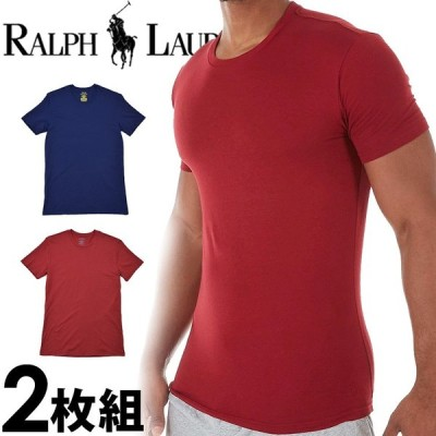 ポロ ラルフローレン メンズ コットン モダール クルーネック 半袖 Tシャツ 2枚セット レッド ネイビー POLO RALPH LAUREN lkcnp263l