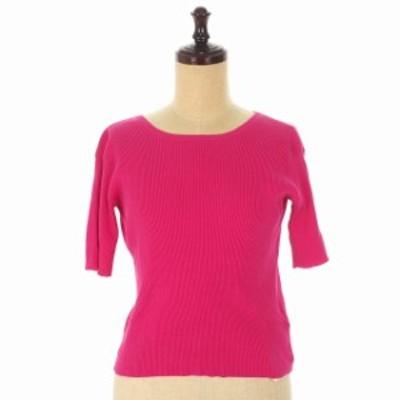 【中古】サイモンミラー Simon Miller NOVI TEE 背中あき ニット トップス Tシャツ 半袖 01 ピンク W725  レディース